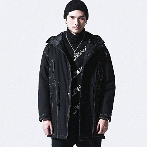 GAOLIM Der Winter Mantel In Langen Der Herren Mantel Jungen Warme Baumwolle Gefütterte Jacke, M, Schwarz (Winter Mantel Jungen North Face)