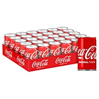 Coca-Cola Regular Carbonated Soft Drink, Cans - 150ml (Pack of 30)