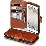 Huawei P10 Case, Terrapin [ECHT LEDER] Brieftasche Case Hülle mit Standfunktion Kartenfächer und Bargeld für Huawei P10 Hülle Cognac