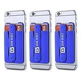 Gear bestia 3Pack teléfono celular cartera tarjeta de Crédito ID soporte con soporte para las mujeres y hombres, en tipo cartera para todos los teléfonos móviles como iPhone X 876s 6Plus Galaxy S8Plus S7S6edge Nota 85 azul marino