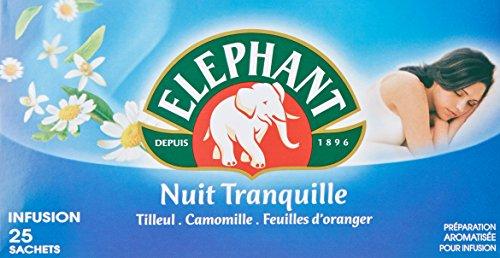 Elephant Infusion Nuit Tranquille 25 Sachets 38g - Lot de 4