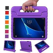 BELLESTYLE Samsung Galaxy Tab A 10.1 Funda- Protector de peso ligero a prueba de golpes Estuche para niños para Samsung Galaxy Tab A 10.1 pulgadas (SM-T580 / SM-T585) Tablet 2017 Release(Morado)