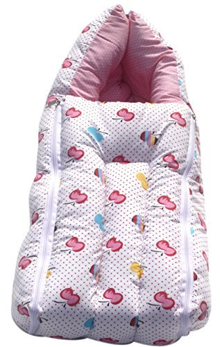 Amardeep and Co Baby Sleeping Bag Cum Baby Carry Bag (Pink) - CT-VWA5-BF45