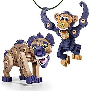 Bloco Animalia Hyena & Chimpanzee Kit de construcción