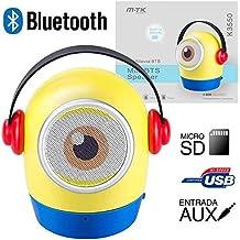 Moveteck - Altavoz Bluetooth Minion K3550 3W Amarillo MP3 Radio FM y Manos Libres