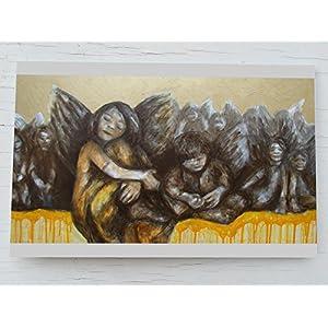 Weihnachtskarte Engel, Weihnachtskarten Gold, Karte Weihnachten Engel, Geschenk Karte Schutzengel, Weihnachts Engel, Karte Advent, Engelchen