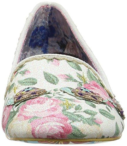 Scelta Irregolare Damen Shelly Pumps, Cremefarben / Blumenmuster Bianco Sporco (crema Floreale)