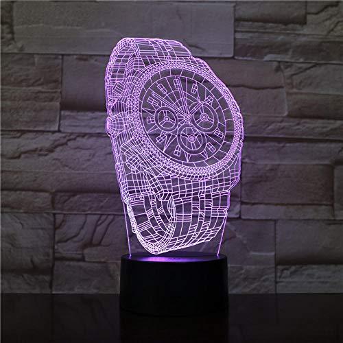 Armbanduhr Form 7 Farben Ändern Berührungsschalter Baby Schlaf Kreative Usb 3D Nachtlicht Lampe Für Wohnkultur