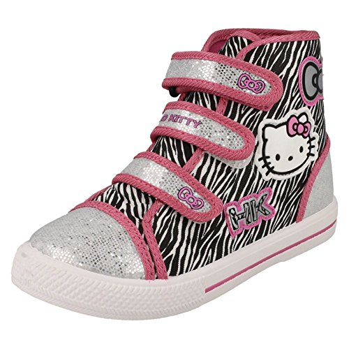 Hello Kitty - Pantofole a Stivaletto da ragazza' , multicolore (Pink Multi), 32 EU Junior