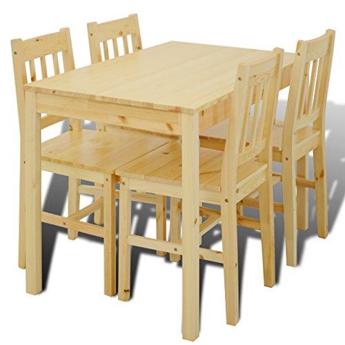 Tavolo da pranzo, in legno naturale con