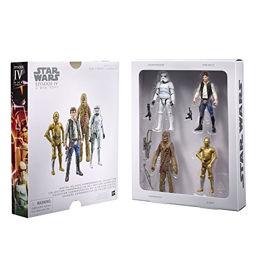 Star Wars 4 teiliges Figuren Set - Episode IV - Digital Release Collection - bewegliche Star Wars Figuren