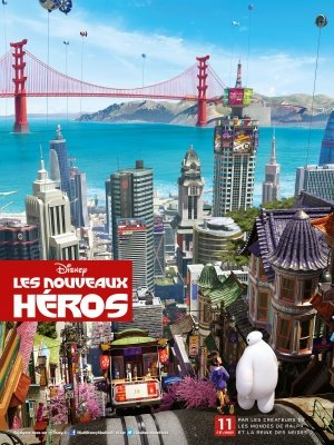 Big Hero 6 - French Movie Wall Art Poster Print - 43cm x 61cm / 17 Inches x 24 Inches A2 Disney (Disney Dvd-big Hero 6)