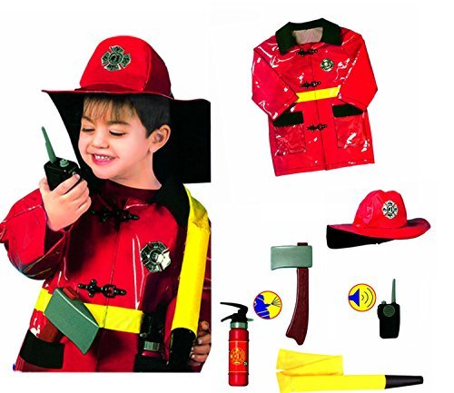 GradPlaza Children Fireman Dress up Set Costume One Size