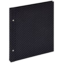 Walther SBL-151-B Sinfonia Glamour flat book album cover and gem stones, 11.8 x 13 inch (30 x 33 cm), black