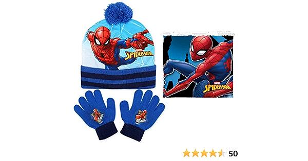 bonnet NOUVEAU Motif Spider Hiver-set ROUGE//GRIS Spider-Man Sense écharpe