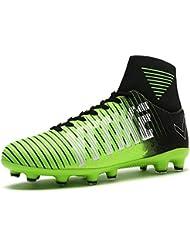 sports shoes 0e01b 21fb9 FG AG Scarpe da Calcio Professionale degli Unisex Bambino e Adulto colorato  Blu Viola