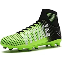 Chaussures de Football Compétition Mixte Enfant ,Homme High Top AG Spike Crampons Chaussures de Foot pour Chaussures de Football Garçon ,Homme