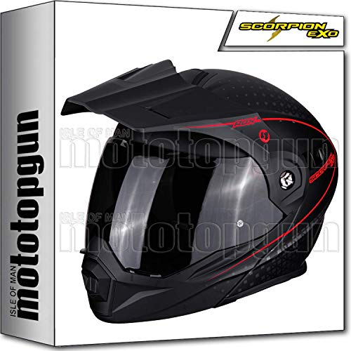 SCORPION 84-282-156 KLAPPHELME MOTORRAD ADX-1 HORIZON MATT BLACK-NEON RED S - 282 Matt
