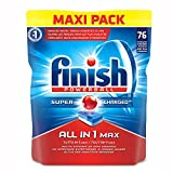 Finish All in One Max 76 Pastiglie per Lavastoviglie, 1070 g, Regular