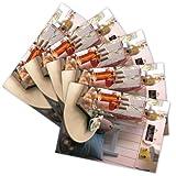 5 hochwertige Grußkarten 'Roséwein', Klappkarten/Faltkarten inkl. Umschlag/Kuvert (1 Motiv - Grüße von Herzen)