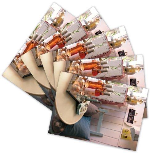 5 hochwertige Grußkarten 'Roséwein', Klappkarten/Faltkarten inkl. Umschlag/Kuvert (1 Motiv -...