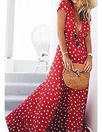 Irina007 Las Mujeres Verano Bohemio Ffiesta Larga Noche Vestido De Cóctel Vestido De Playa