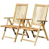ASS Doppelpack Techt Teak Hochlehner Gartensessel Gartenstuhl Sessel Holzsessel Klappsessel Gartenmöbel 7fach Verstellbar Holz Sehr Robust Modell: Summer von