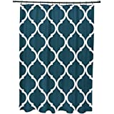 E por diseño French Quarter geométrico impresión cortina de ducha, mar profundo