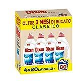 Dixan Classico Pulito Profondo Detersivo Liquido Lavatrice, 80 Lavaggi