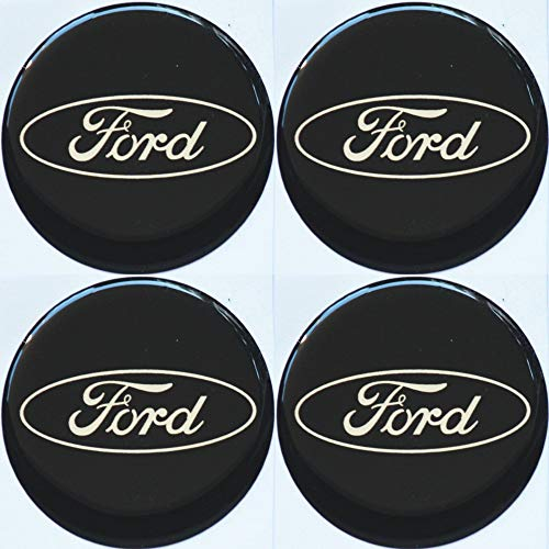 Embleme Radnabenkappen Aufkleber Nabendeckel SILICON Rund 56 mm Art.Nr.EFOR56 (Ford Nabendeckel Embleme)