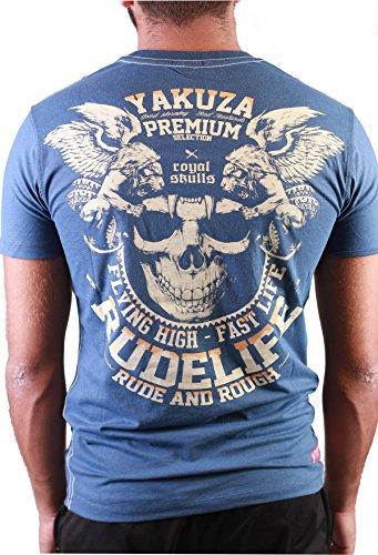 YAKUZA PREMIUM T-SHIRT YPS 2108 DUNKELBLAU Blau