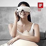 Breo iSee4 Elektrische tragbare Augenmassagegerät Augenmaske mit Heizung Luftdruck Musik Vibration, Shiatsu-Massagegerät für trockene Augen-Überanstrengung Ermüdung Stressabbau