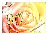 DigitalOase Glückwunschkarte 90. Geburtstag Jubiläumskarte 90. Jubiläum Geburtstagskarte Grußkarte Format DIN A4 A3 Klappkarte PanoramaUmschlag #ROSE
