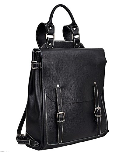 DJB/ Retro-Umhängetaschen Mann Tasche Retro-Wildleder Leder Handtasche Rucksack Black