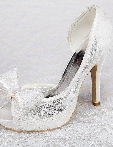 Shangyi scarpe da sposa - sandali - tacchi / plateau - matrimonio / formale / serata e festa - bianco - da donna , 3in-3 3/4in-white