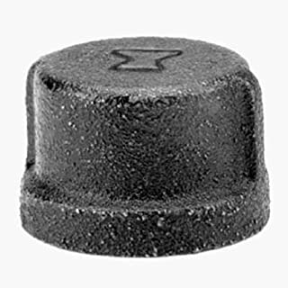 Anvil 8700132205, Malleable Iron Pipe Fitting, Cap, 1/2 NPT Female, Black Finish by Anvil International