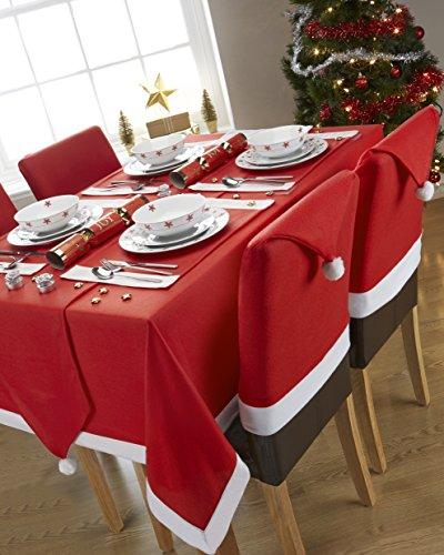 Navidad de Papá Noel cuadro rojo blanco polar 4–6lugar RECTANGULAR Mantel 52