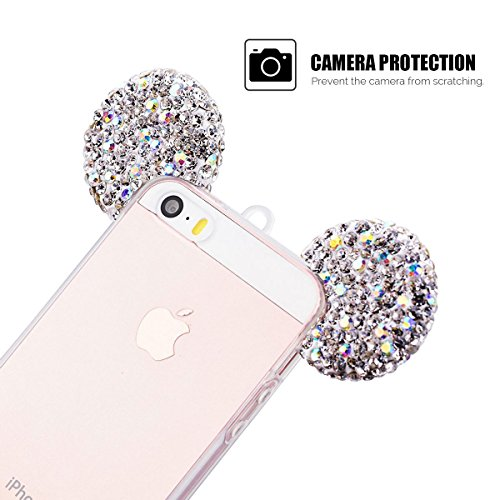 Cover iPhone 5/5S/SE (4.0 pollici) Spiritsun iPhone 6 Custodia TPU Moda Elegante Case Cover Soft Silicone Back Cover Protezione Bumper Funzione Shell Morbida Flessible TPU Bling Bling Cover Per iPhone Soldi