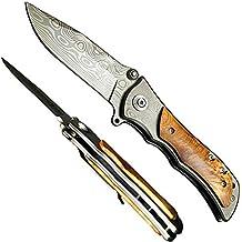 a105311e0d74 Fabriqué Sur Mesure en acier Damas Couteau de poche pliant 18,8 cm avec G