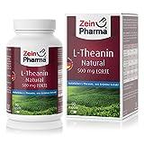 L-Teanina 500mg di ZeinPharma • 90 capsule (fornitura per 3 mesi) • Estratto di Tè Verde da coltivazione controllata, rilassa senza stancarti • Fatto in Germania