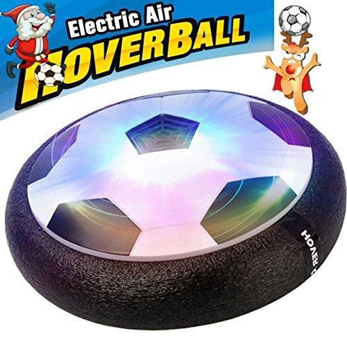 Air Power Soccer Jungen Mädchen Sport Kinder Spielzeug Training Fußball Indoor Outdoor Disk Hover Ball Schaumstoff Spiel mit Stoßstangen LED-Lichtern, schwarz oder weiß (Ein Anderes Wort Für Die Halloween-party)