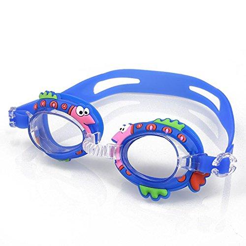 Moocevill - Schutzbrillen für Kinder Anti-Fog Schwimmbrille für Kinder Tauchen Surfen Brille Junge Mädchen optische Blendung Auge tragen [Blue Fish]