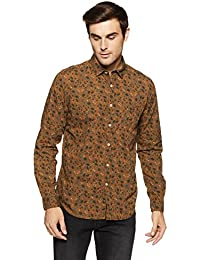 LP Jeans By Louis Philippe Men's Solid Slim Fit Casual Shirt