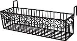 Blumen-Balkon aus Metall L 65 cm Wandkorb Balkonkasten Blumenkasten