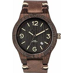 WEWOOD Herren Analog Quarz Smart Watch Armbanduhr mit Leder Armband WW08008