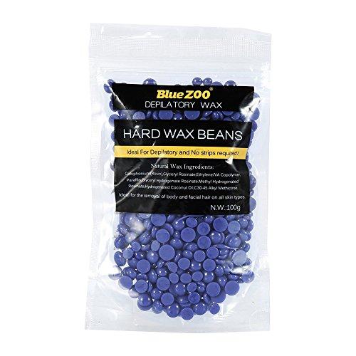BlueZoo - L'épilation originale Hard Wax Beans - Lavande - Idéal pour l'élimination sans douleur des poils sur le corps et la ligne de bikini pour tous les types de peau - 100g (violet)