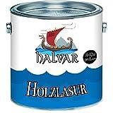 Halvar Holzlasur skandinavische Lasurwetterfest - atmungsaktiv - Lichtbeständig - aromatenfrei - tropfgehemmt - UV-beständig in 12 Farbtönen Außen-Lasur Holz-Schutz Holz-Öl (5 L, Farblos)