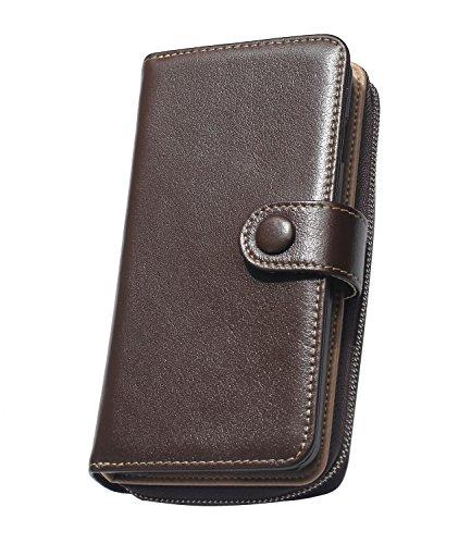 iPhone 7 Raccoglitore del cuoio genuino Custodia, Venter® HandmadeCover Custodia, Genuine Leather Card Multifunction for iPhone 7 / 7S Custodia