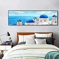 DEED Einfache Und Frische Mediterrane Landschaft Restaurant Dekoration  Malerei, Einzelne Hängenden Malerei, Nacht Malerei