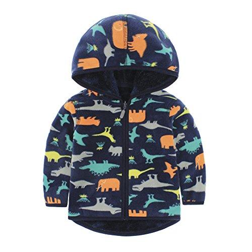 Giacca in Pile Unisex con Cappuccio da Bambini Bambina 2~7 anni , Maglione Pullover Felpa Vestito -iisport